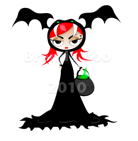 cute cartoon girl vampire - TATTOO HOT